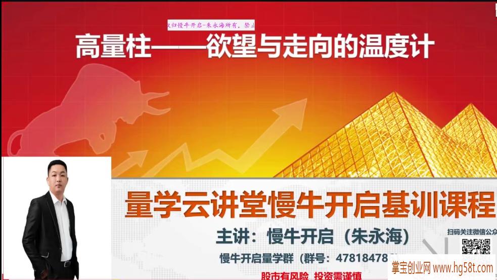 【朱永海】量学云讲堂朱永海慢牛开启-第26期 2021年